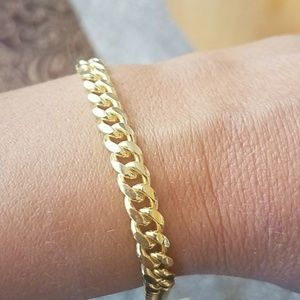 Other - 6mm wide Cuban chain Bracelet in 9 inches